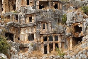 rock-tombs-myra-turkey
