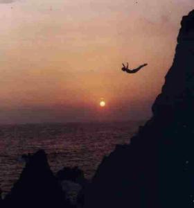 cliff-dive