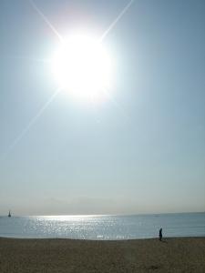 beach adn sun