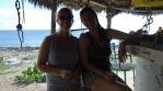 Dominique and Jen at sunset pub